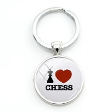 Sleutelhanger 'I Love Chess""
